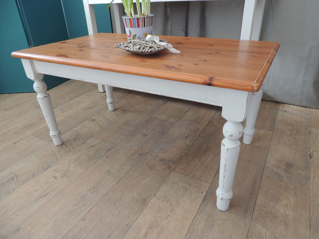 Farmhouse Style Shabby Chic Pine Coffee Table Eclectivo London Furniture With Soul