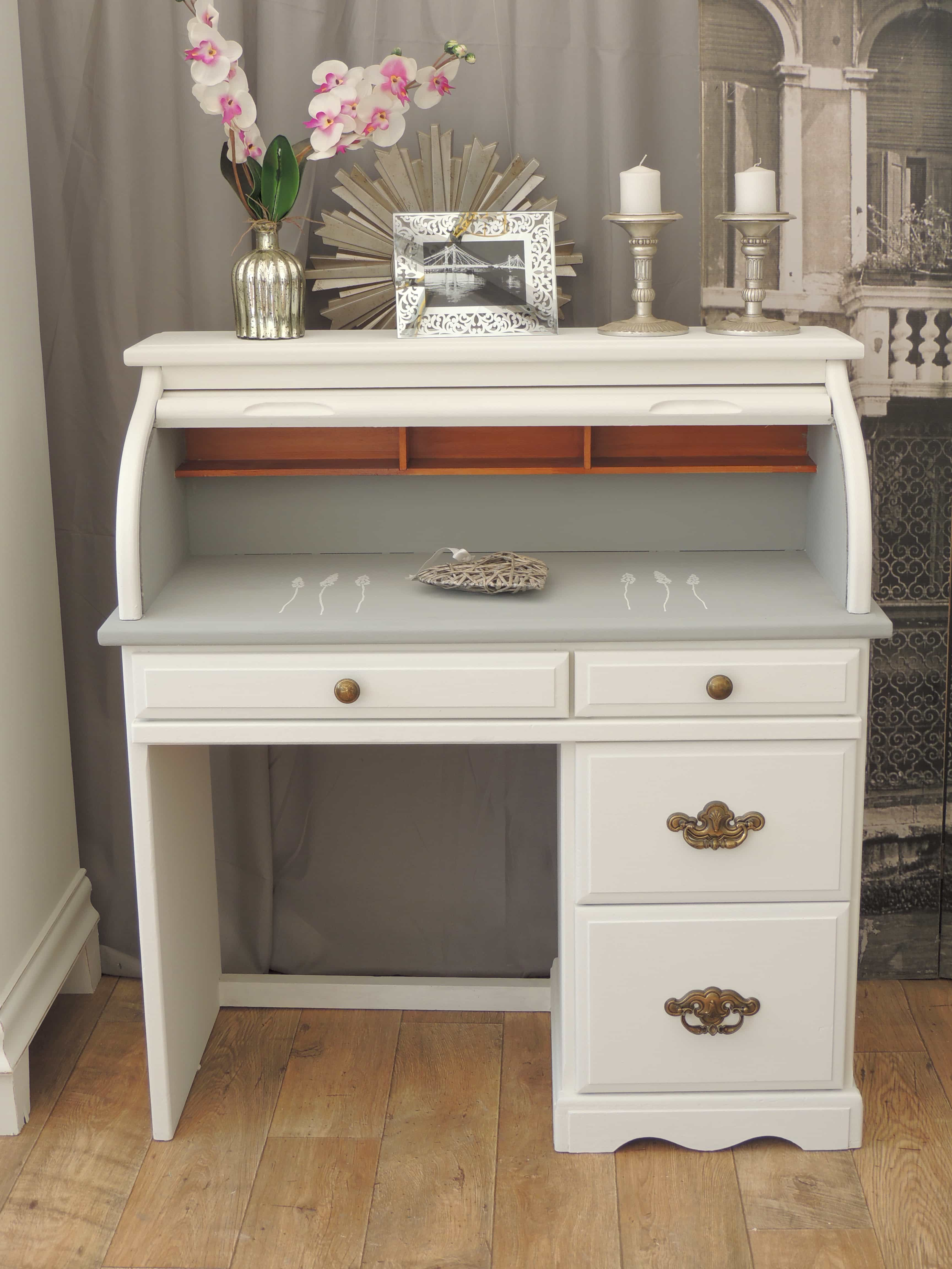 Shabby Chic Roll Top Desk