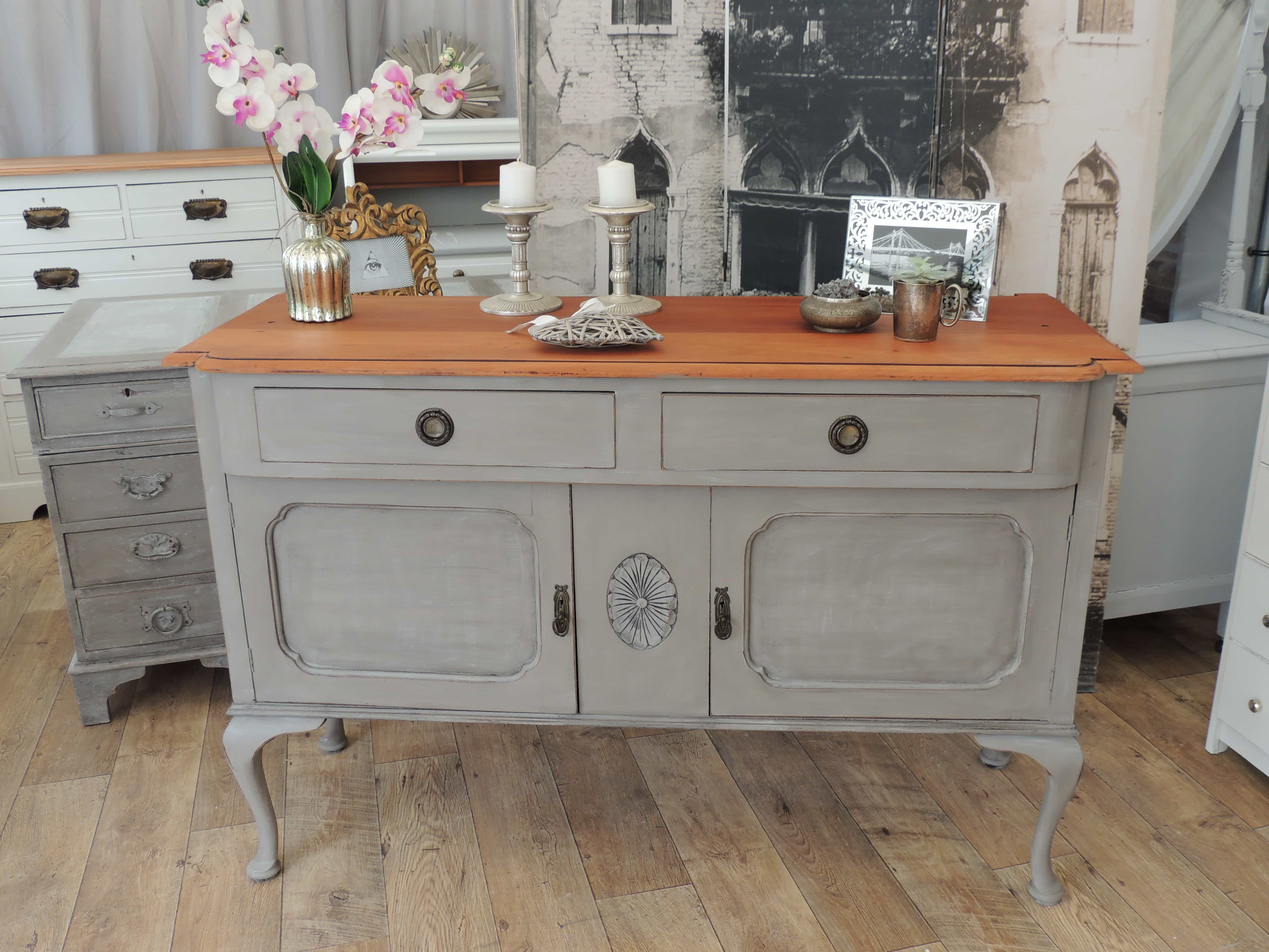 Shabby Chic Edwardian Sideboard Eclectivo London Furniture With Soul