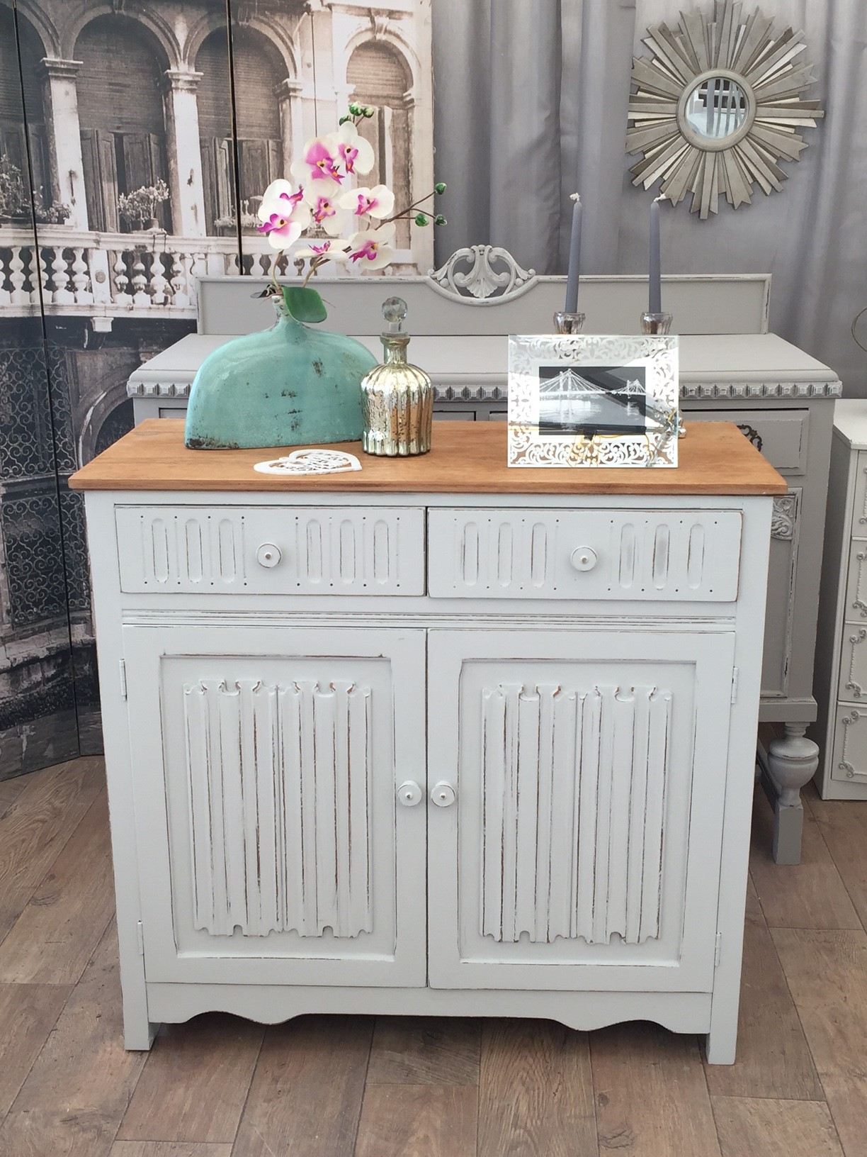 Shabby chic oak cabinet - ECLECTIVO London | Furniture ...