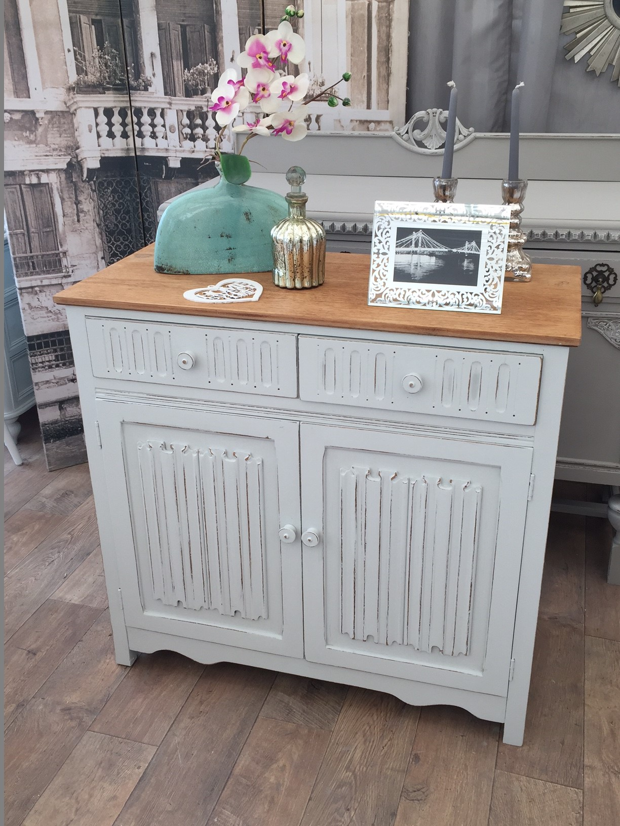 shabby chic oak cabinet eclectivo london furniture with soul. Black Bedroom Furniture Sets. Home Design Ideas