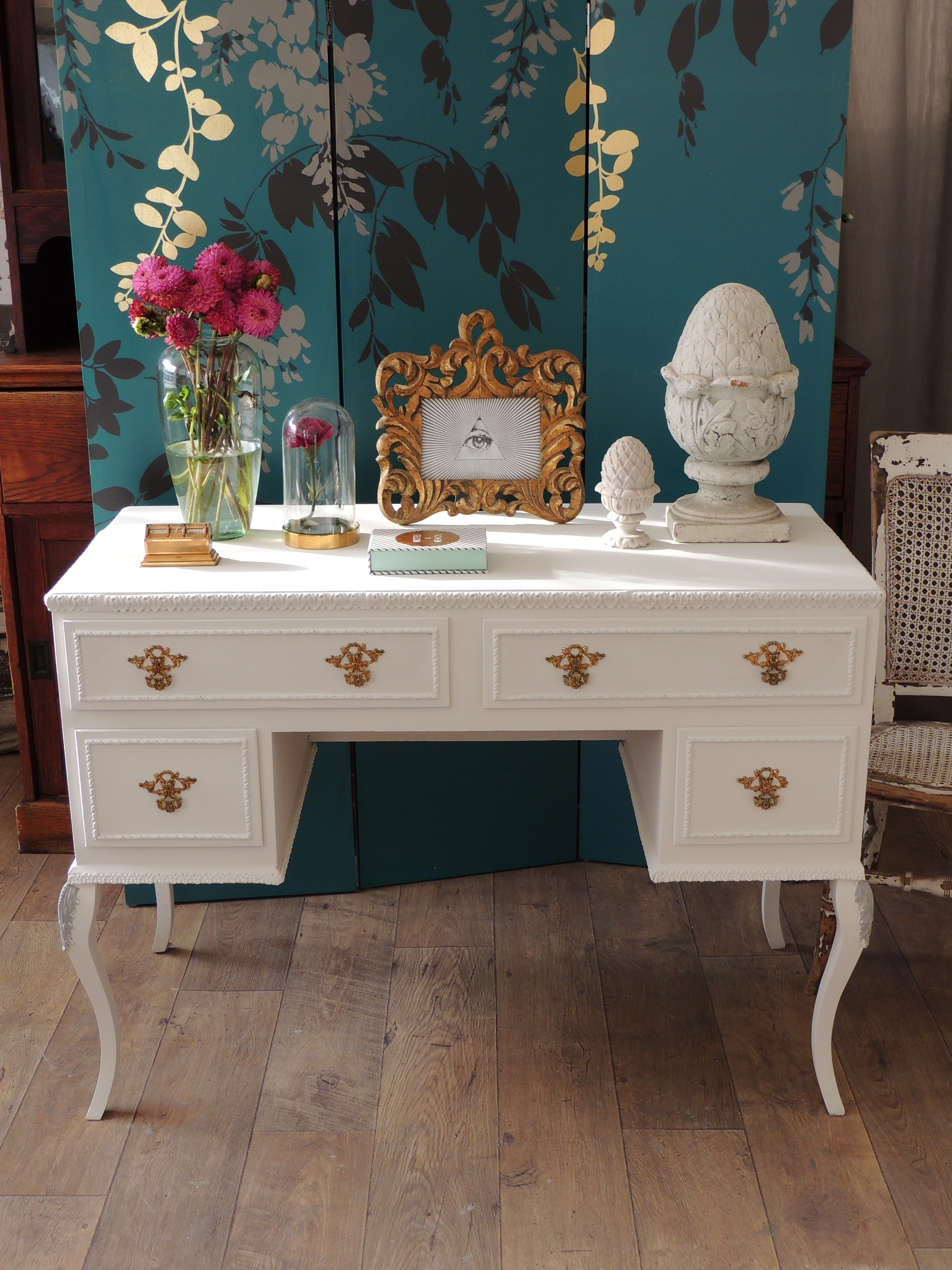 Shabby Chic French Style Desk Dressing Table