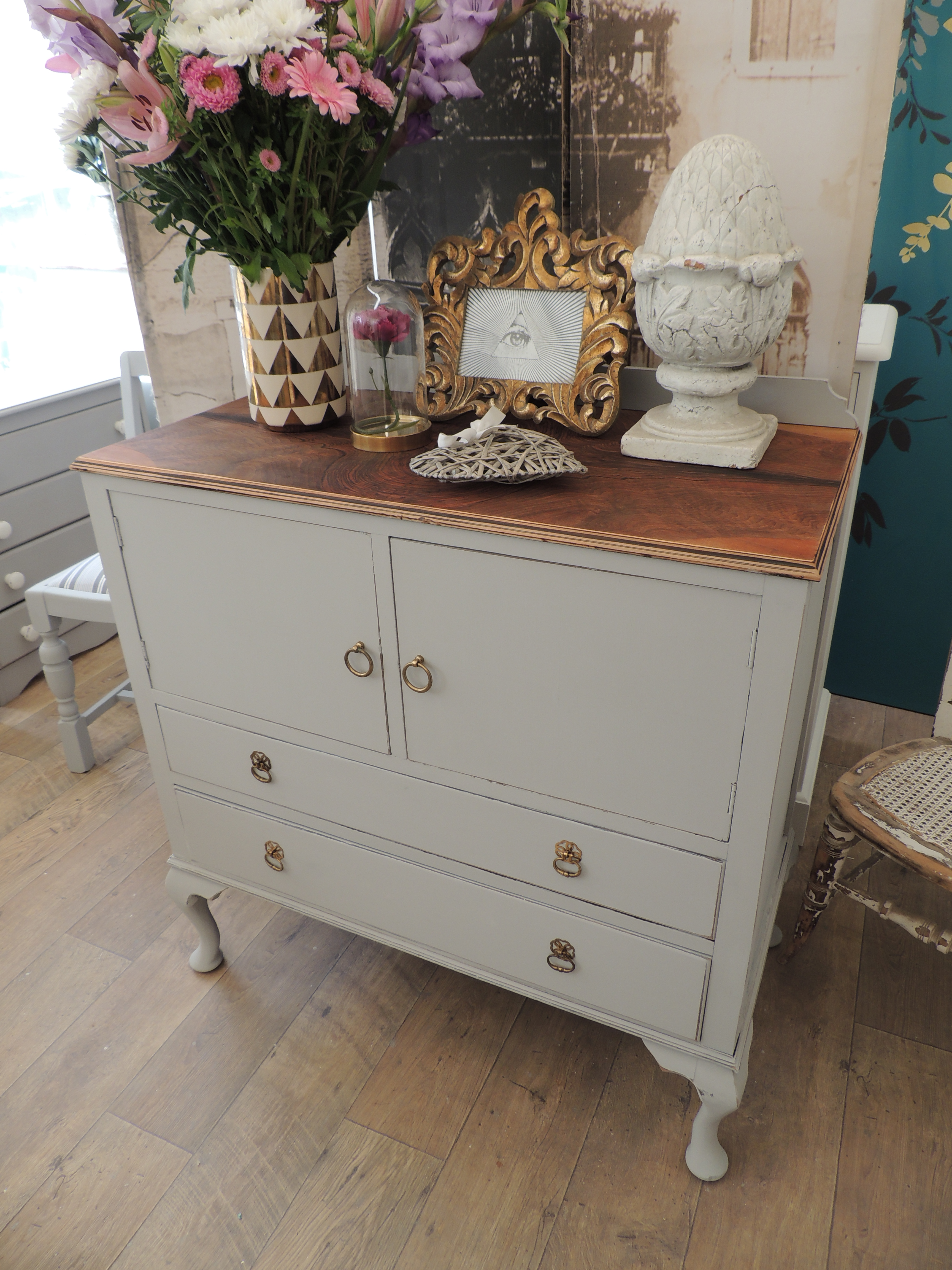 shabby chic french style wooden sideboard cabinet eclectivo london furniture with soul. Black Bedroom Furniture Sets. Home Design Ideas