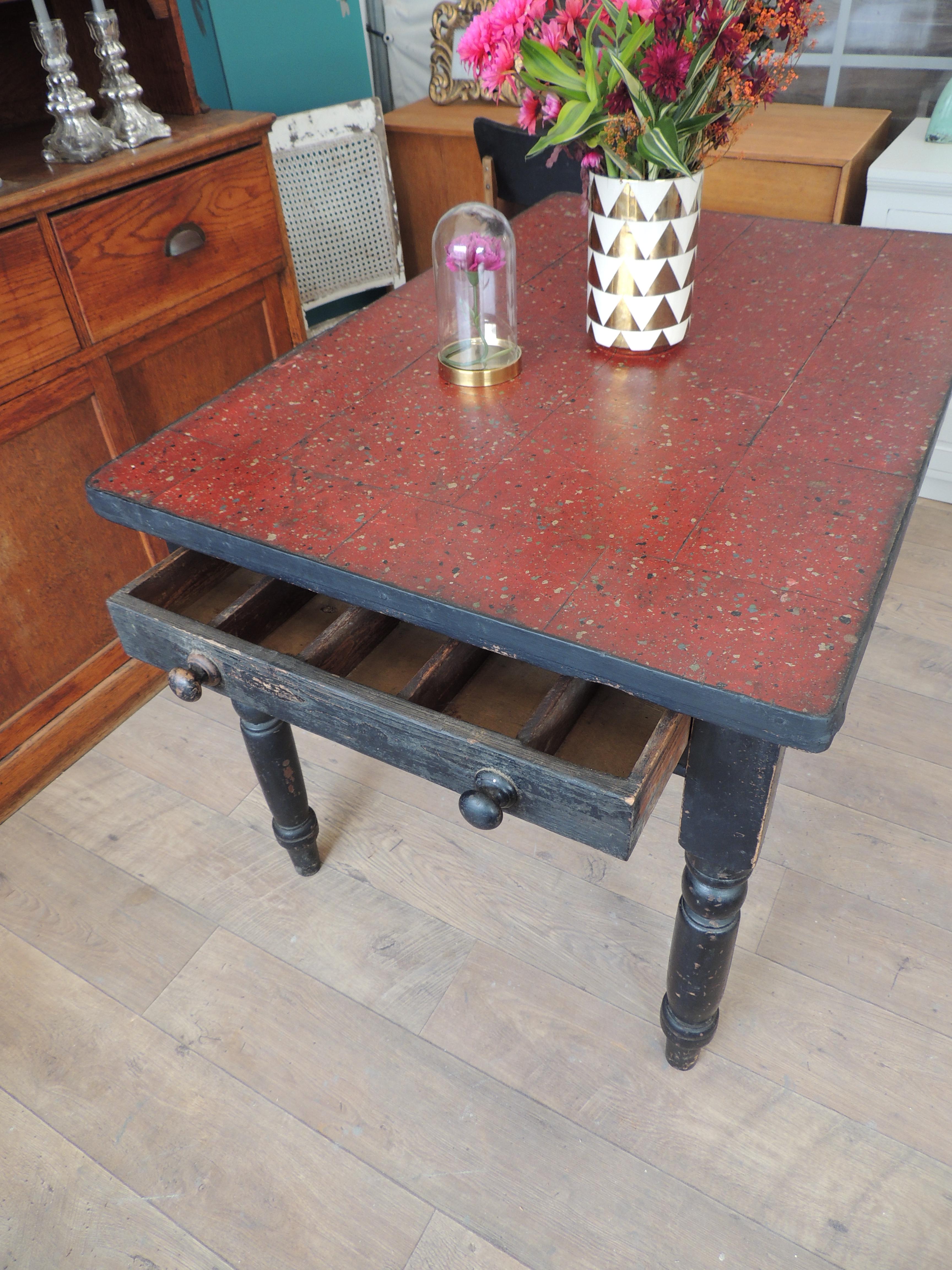 Vintage victorian kitchen table with drawer eclectivo london vintage victorian kitchen table with drawer workwithnaturefo