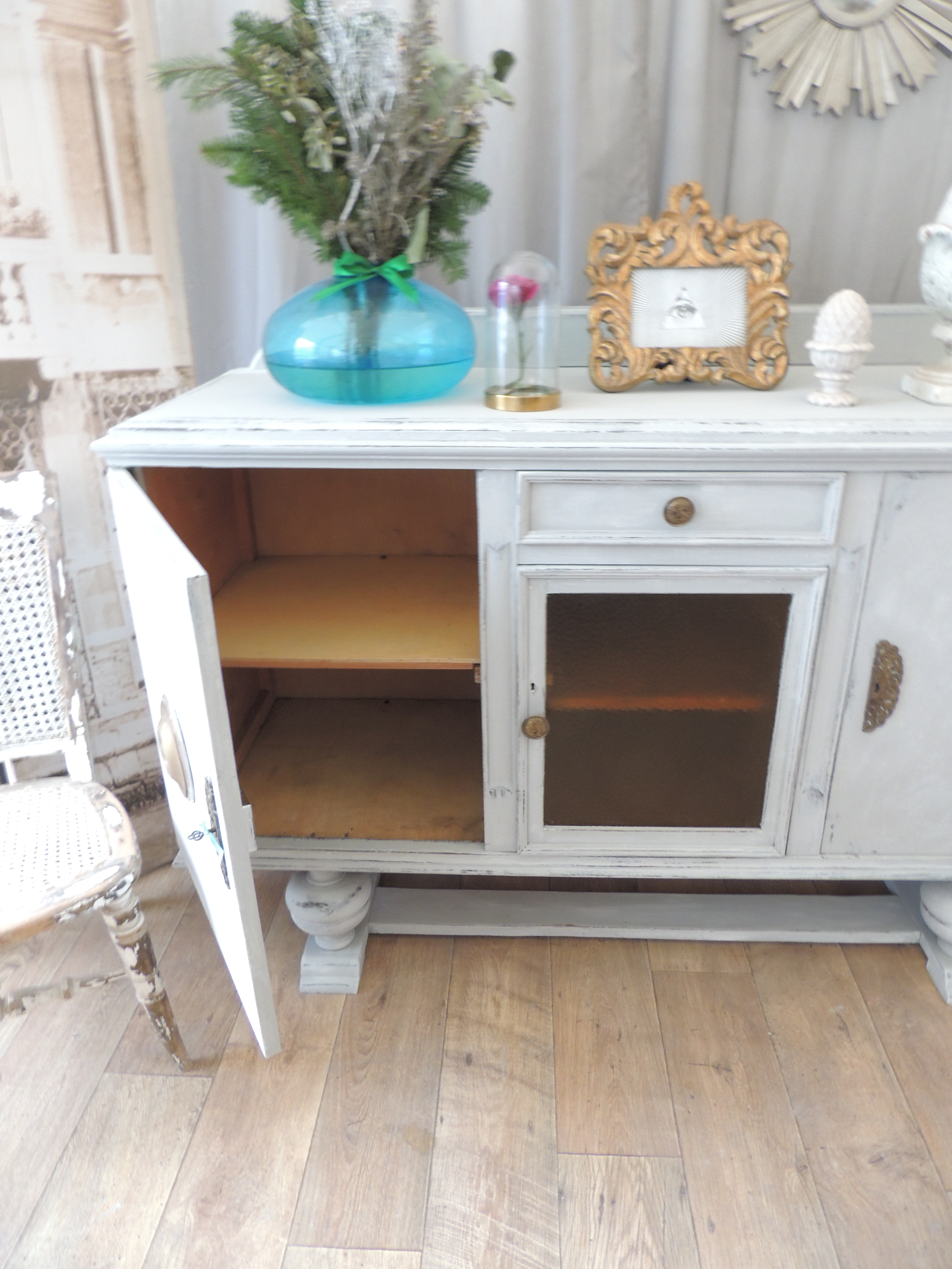 shabby chic art deco style sideboard eclectivo london furniture with soul. Black Bedroom Furniture Sets. Home Design Ideas
