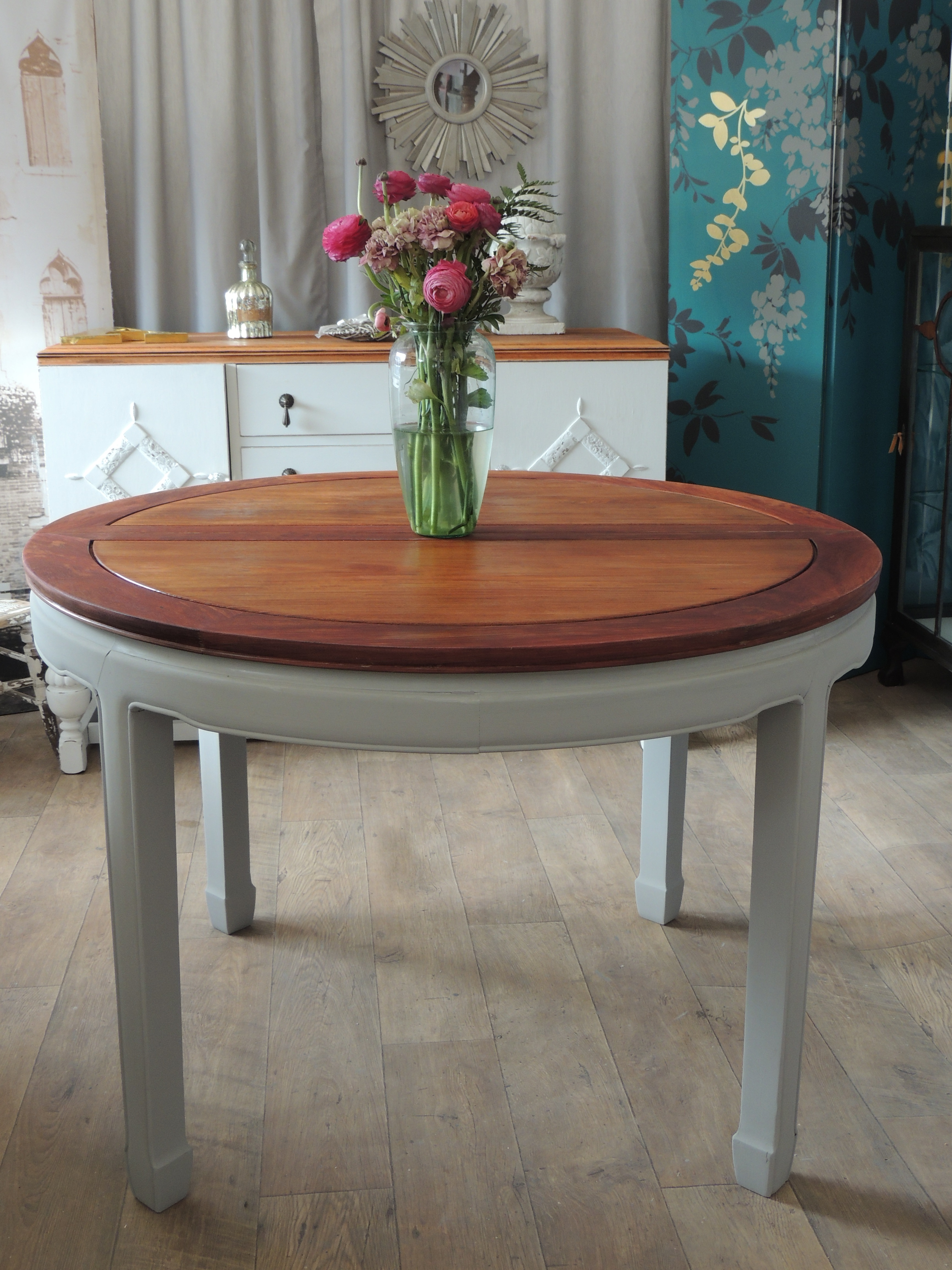 Shabby Chic Extending Dining Table For 4 8 People