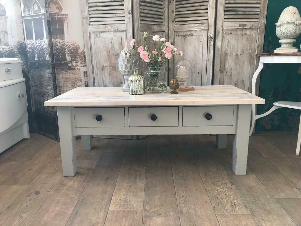 Shabby Chic Wooden Coffee Table